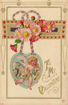 . My Funny Valentine, Valentine Cupid, Valentine Images, Valentines Greetings, Valentines Art, Vintage Valentine Cards, Valentine Day Cards, Happy Valentines Day, Valentine's Day Greeting Cards