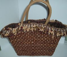 Retro basket handbag//retro purse//basket by NewtoUVintage on Etsy, $14.99