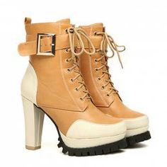 Fashion Color Matching and Chunky Heel Design Short Boots For Women Boots For Short Women, Short Boots, Cheap Boots, Unique Shoes, Designer Heels, Boots Online, Fashion Colours, Beautiful Shoes, Chunky Heels