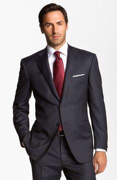 Canali Wool Suit Estilo De Hombre 27ff8c600e0c