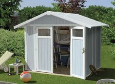 abri jardin pvc grosfillex utility 49 bleu - Abri Jardin Pvc