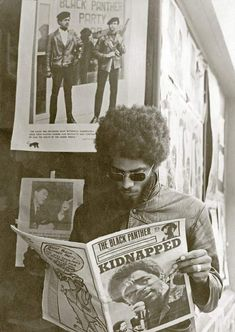 Aaron Dixon, in front of the Seattle Black Panther Party office on and Union, Seattle, Washington. Photograph by Gill Baker/submitted by Aaron Dixon. Black Panther Party, Black Panthers Movement, Gil Scott Heron, Jazz, Afro, Pochette Album, Power To The People, Black Pride, My Black Is Beautiful