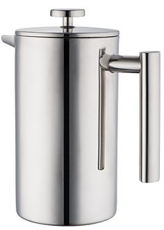 MIRA Stainless Steel French Press, Coffee Plunger, Press Pot, Tea Brewer, Cafetiere, Double Walled, 34 oz - http://teacoffeestore.com/mira-stainless-steel-french-press-coffee-plunger-press-pot-tea-brewer-cafetiere-double-walled-34-oz/