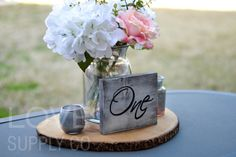 Wedding Table Number  Wood Sign Reception Decor by LoveSupplyCo