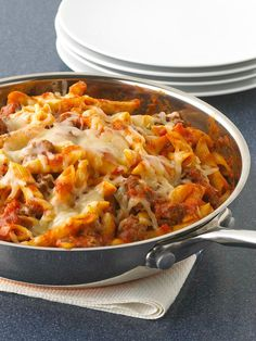 Penne Pasta Skillet -- One is the loneliest number--and that's a good thing when it's the number of pans you have to clean after making this savory skillet recipe!