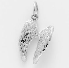 Angel Wings Charm.  $27.00  http://www.charmnjewelry.com/sterling-silver-charms.htm  #SilverCharm