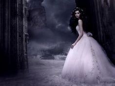 Delicate - 3D CG, abstract, beautiful, black, blue, dark, elegant, fantasy, female, forrest, girl, girls, gown, grey, lace, pastel, pink, silk, soft, white, woman, women