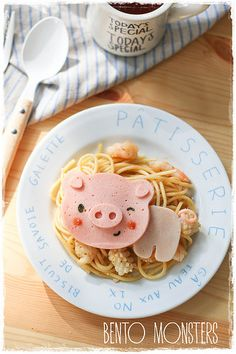 Piggy Pasta by Bentomonsters