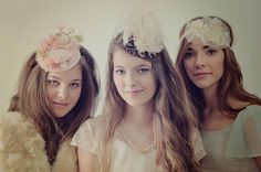 Dainty Ivory Floral Headpiece by Ruby & by RubyandCordelias