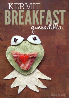 Kermit Breakfast Quesadilla 1
