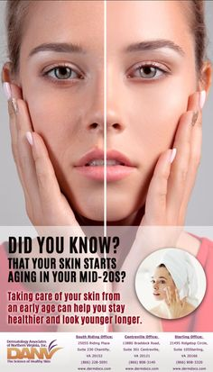 Skincare is the number one defense against aging. Call today to learn more about our skin care services. Centreville Office: (866) 808-314013880 Sterling Office: (866) 808-332021495 South Riding Office: (866) 228-5091 #ProperSkinCare #Youngerlookingskin