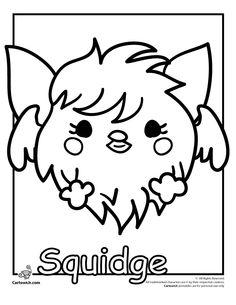"Moshi Monsters Coloring Pages – Kitties, Spookies and Birdies Squidge ""Spookies"" Moshi Monster Coloring Page – Cartoon Jr."