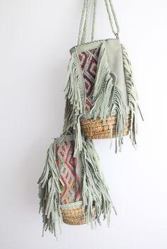 Moroccan bag with kilim and raffia. dar amïna shop