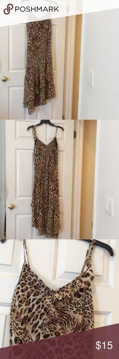 Cheetah ruffles dress Brand new excellent condition never worn Another thyme Dresses