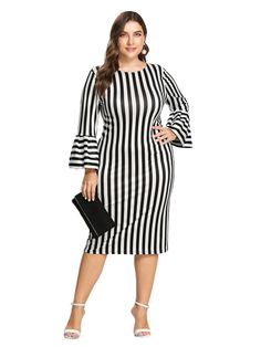 Plus Size Christmas Dresses, Plus Size Work Dresses, Plus Size Dresses, Plus Size Outfits, Size 16 Fashion, Look Fashion, Curvy Fashion, Corporate Outfits, Black Dress Outfits