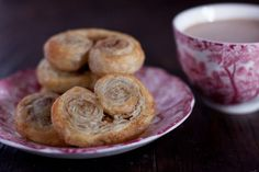 Palmiers French Puff Pastry Cookies. (Suggestion: Cut with a string. Chill before putting in oven.)