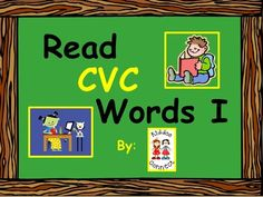 """Reading CVC Words FREEBIE from KiddosConnect on TeachersNotebook.com - - This """"CVC Words"""" PowerPoint is a handy learning tool for developing segmenting and blending of simple cvc words. The slideshow is editable for you to add your own words."""