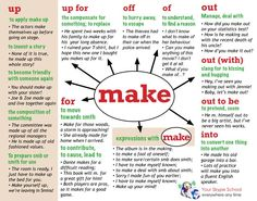 #phrasal #verb to MAKE with its #uses, Your Skype School study material…
