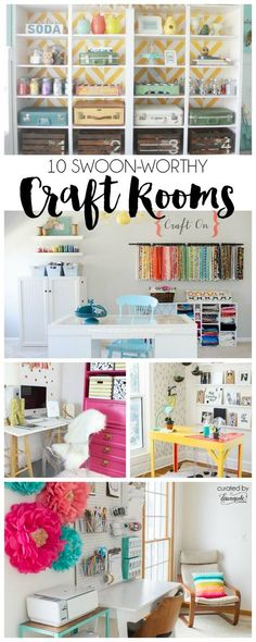 10 Swoon Worthy Craft Rooms | curated by dawnnicoledesigns.com