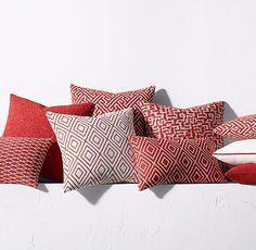 Bella Dura Pillow Covers at Restoration Hardware - Persimmon