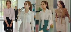 What's Wrong with Secretary Kim - Styl.fm ☺ - Women in Uniform Business Outfits, Office Outfits, Work Outfits, Young Fashion, Work Fashion, Secretary Outfits, Fashion Words, Korean Brands, Park Min Young