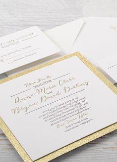 15 Sparkling Wedding Ideas: #11. Wedding Invitation