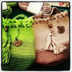 Handbag crochet colours