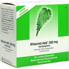 RHEUMA HEK 268 mg Hartkapseln:   Packungsinhalt: 100 St Hartkapseln PZN: 06161394 Hersteller: Strathmann GmbH & Co.KG Preis: 16,64 EUR…