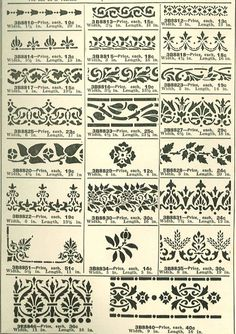 Stencils from a 1915 Wards Paint catalog.