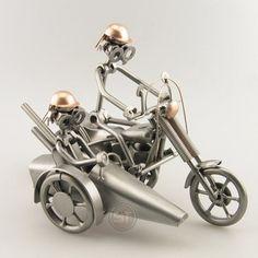 Schraubenmännchen Harley mit Beiwagen