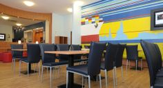 Frühstücksraum des B&B Hotels Hamburg-Altona