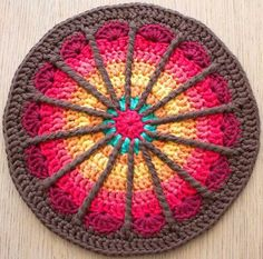 Transcendent Crochet a Solid Granny Square Ideas. Inconceivable Crochet a Solid Granny Square Ideas. Crochet Mandala Pattern, Crochet Circles, Crochet Motifs, Crochet Potholders, Crochet Cushions, Crochet Blocks, Crochet Squares, Crochet Stitches, Crochet Patterns