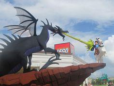 LEGO dragon at Downtown Disney Lego Store in Orlando