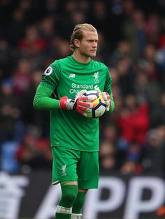 Loris Karius of Liverpool during the Premier League match between Crystal Palace and Liverpool at Selhurst Park on March 31, 2018 in London, England.