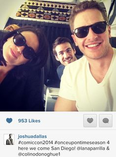Lana Parilla, Colin O'Donoghue, and Josh Dallas #ComicCon #SDCC2014