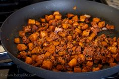 Chorizo and Sweet Potato Hash