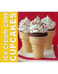 The High Heeled Hostess: Ice cream cone cupcakes!