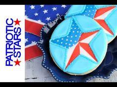 Patriotic Star Cookies  https://www.youtube.com/watch?v=HbQ2KGw5M4I