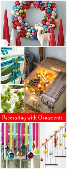 Decorating with Ornaments : Not Just for Trees! • Check out these inspiring ornament ideas!