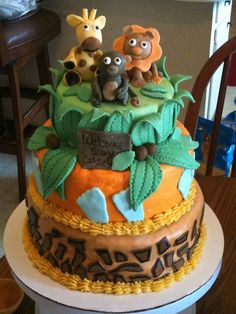 Safari Theme BABY SHOWER CAKE By Chickey76, Via Flickr