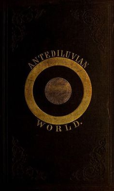 Antediluvian world. 1854. Book cover