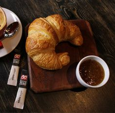 Fresh #croissants baked daily. Savory Pastry, Croissants, French Toast, Bakery, Pudding, Pie, Treats, Fresh, Breakfast