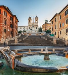 Spanish Steps, Rome, Italy. I really liked that when I went, the fountain, my sister drank out of it