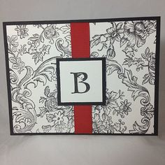 Monogrammed Card Set Hand Stamped  Bella by lastsummertreasures, $10.00