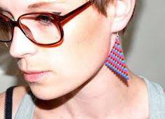 fuse bead jewellery - Geometric earrings