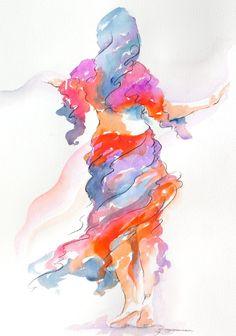 https://flic.kr/p/bveSZ4 | leisurely drift | 18 x 24 watercolor