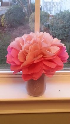 Tissue Paper Bouquet: Featured on http://www.survivingateacherssalary.com/tissue-paper-flower-bouquet-heart-sun-catchers-crafts/
