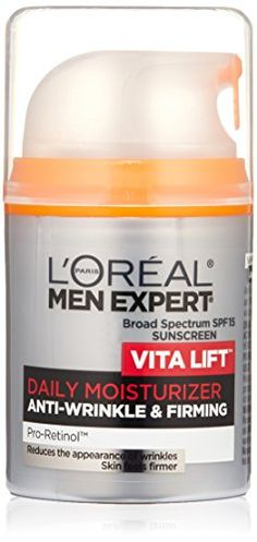 LOreal Paris Men Expert Vita Lift AntiWrinkle  Firming Daily Facial Moisturer SPF 15 -- Check out this great product.