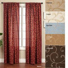 Isis Dei Isis Scroll Rod Pocket 120-inch Curtain Panel
