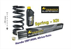 Height lowering kit, 25mm, for Honda CRF1000L Africa Twin from 2016 replacement springs